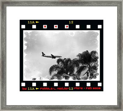 Sky #2 San Diego Airport, California  Framed Print