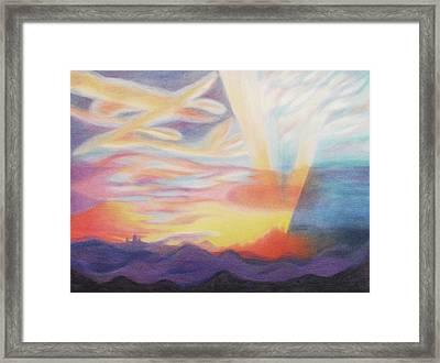 Sky Ablaze Framed Print by Suzanne  Marie Leclair