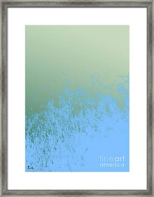 Sky And Green Framed Print