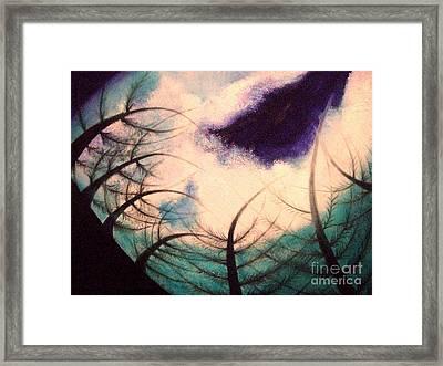 Sky And Land Symphony Framed Print