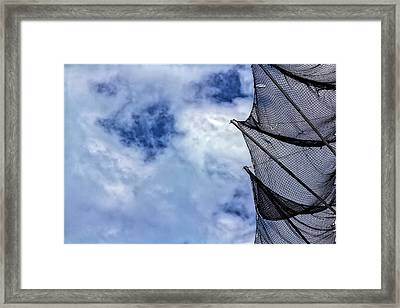 Sky And Net Framed Print