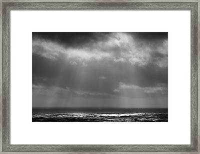 Framed Print featuring the photograph Sky And Ocean by Ryan Manuel