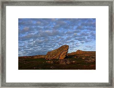 Sky And Rock - Etel Township, Brittany, Morbihan, France Framed Print by Guillaume Pierre Royer