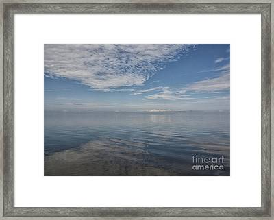 Sky And Sound Framed Print by Terry Rowe