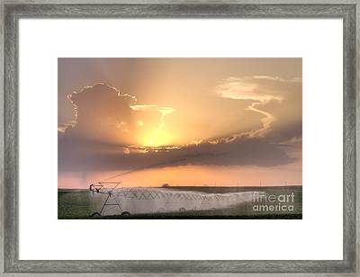 Sky And Water Framed Print
