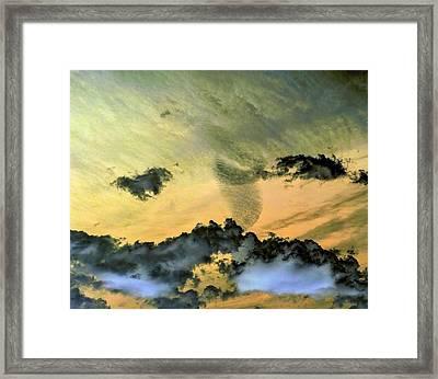 Cloud Art Inverted Colors Framed Print