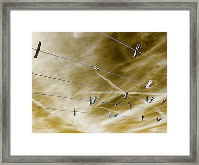 Framed Print featuring the pyrography sky by Artistic Panda