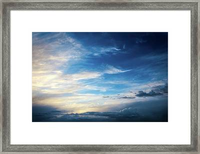 Sky At Airport Mesa - Sedona Framed Print by Jennifer Rondinelli Reilly - Fine Art Photography
