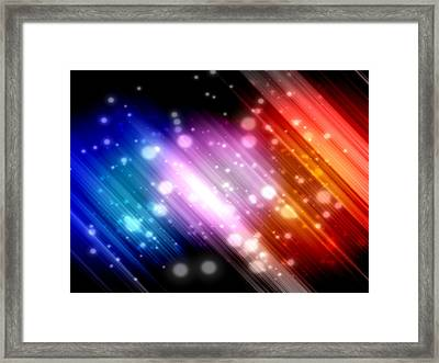Sky Beams Framed Print