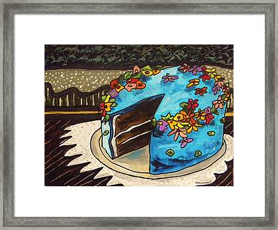 Sky Blue Cake Framed Print by John Williams