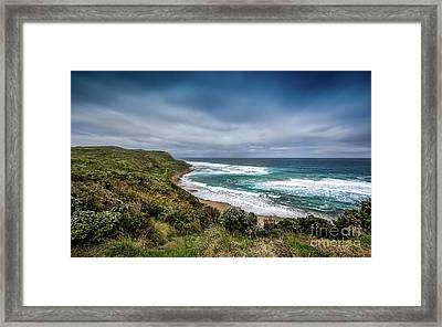 Framed Print featuring the photograph Sky Blue Coast by Perry Webster