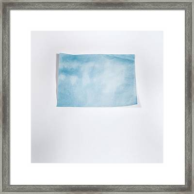 Sky Blue On White Framed Print by Scott Norris