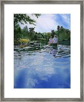 Sky Blue Waters Framed Print