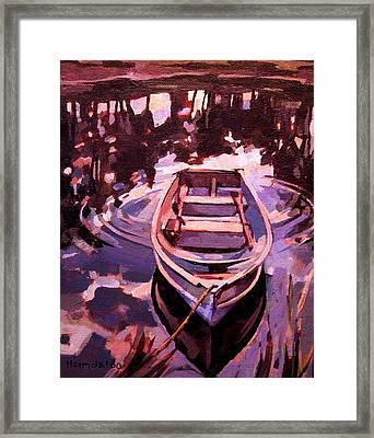 Sky Boat Framed Print
