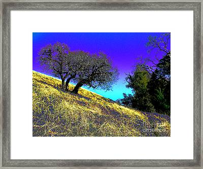 Sky Burning Blue Framed Print by JoAnn SkyWatcher