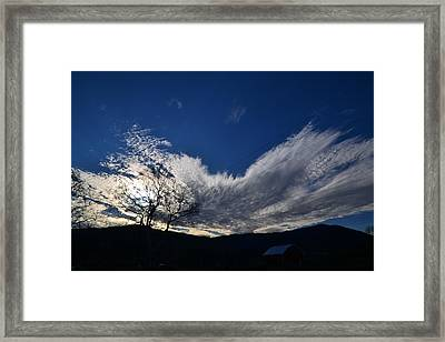 Sky Burst Framed Print by Penny Beard