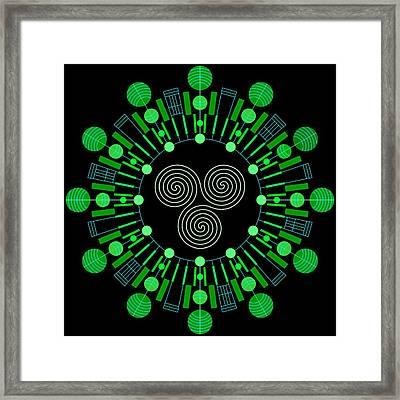 Sky Chief Color Framed Print by DB Artist
