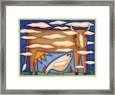 Sky Cow Framed Print by Mary Anne Nagy