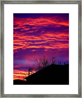 Framed Print featuring the photograph Sky Drama by Valentino Visentini