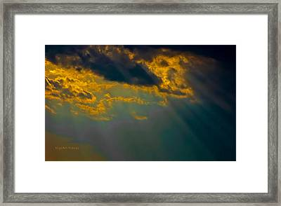 Sky Effects Framed Print by DigiArt Diaries by Vicky B Fuller