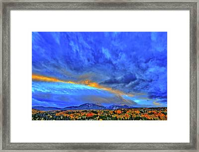 Framed Print featuring the photograph Sky Fall by Scott Mahon