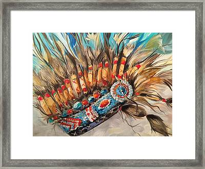 Sky Feather Detail Framed Print