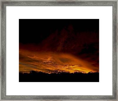 Sky Fire 2 Framed Print by Clyde Replogle