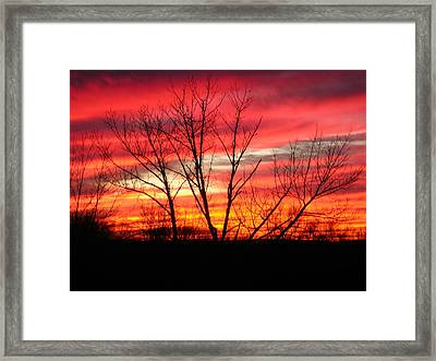 Sky Fire Framed Print by Ron Moses