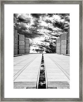 Sky Flow Black And White La Jolla Framed Print by William Dey