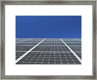 Sky Grid  Framed Print