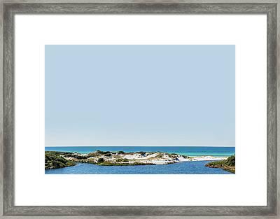 Sky Gulf Dunes Lake Framed Print