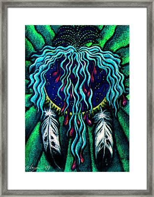 Sky Heart Framed Print
