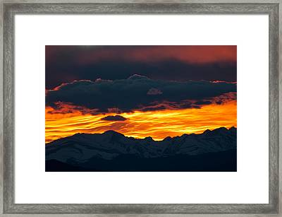 Sky Lava Framed Print by Colleen Coccia