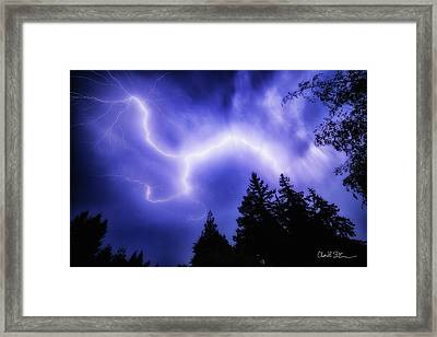 Sky Lightning Framed Print