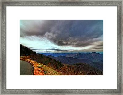 Sky Line Drive Virginia Framed Print by Melissa Hicks