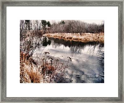 Sky Low Framed Print by Betsy Zimmerli