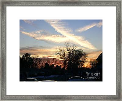 Framed Print featuring the photograph Sky Message by Desline Vitto
