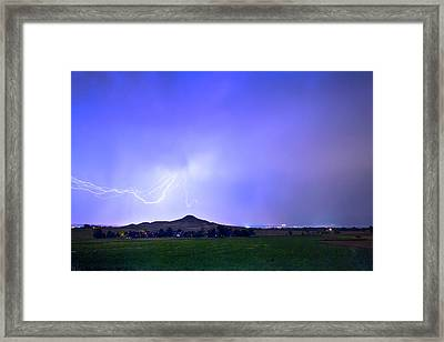 Framed Print featuring the photograph Sky Monster Above Haystack Mountain by James BO Insogna