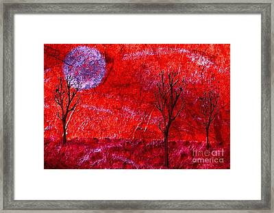 Sky Of Fire Framed Print by Mimo Krouzian