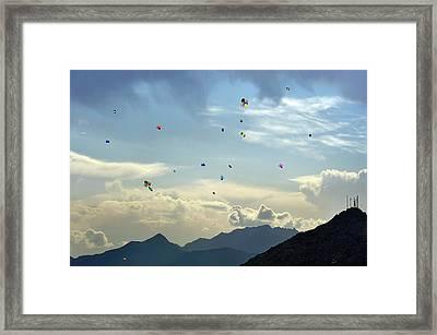 Sky Of Kabul Framed Print