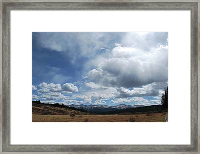 Framed Print featuring the photograph Sky Of Shrine Ridge Trail by Amee Cave