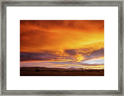 Sky On Fire Framed Print by James BO Insogna