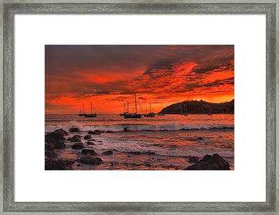 Sky On Fire Framed Print