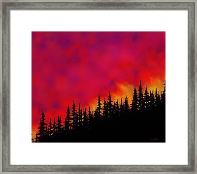 Sky On Fire Framed Print by Tim Stringer