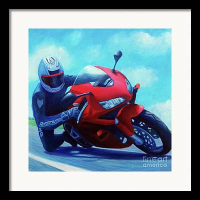 Honda Motorcycles Framed Prints