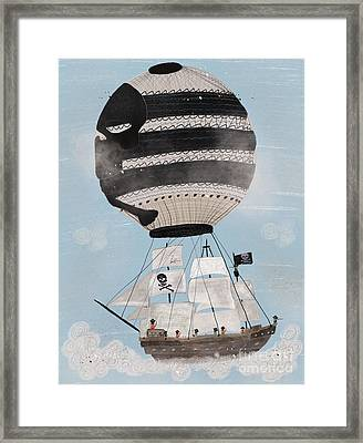 Framed Print featuring the painting Sky Pirates by Bri B