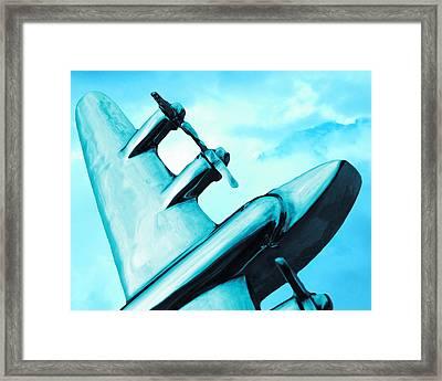 Sky Plane Framed Print