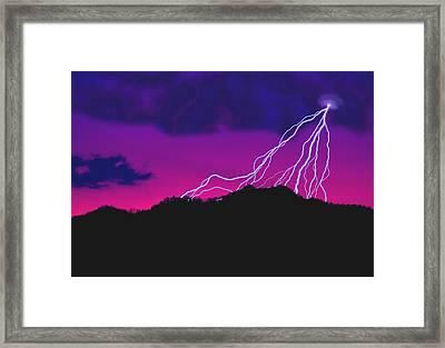 Sky Power Framed Print