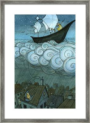 Sky Sailing Framed Print