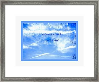 Sky Scape Framed Print by Debra Lynch